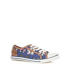 Mantaray - Blue butterfly print shoes
