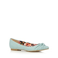 The Collection - Light turquoise knotted toe pumps