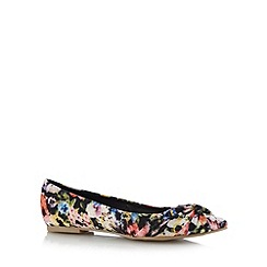The Collection - Black floral knotted toe pumps