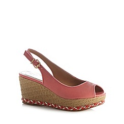 Mantaray - Peach plaited mid wedges