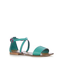 Mantaray - Green leather strap sandals