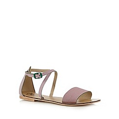 Mantaray - Lilac leather strap sandals