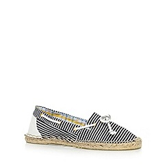 Mantaray - Navy striped espadrille boat shoes