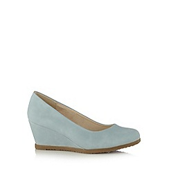 Good for the Sole - Light blue mid wide fit wedges