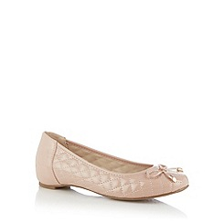 Good for the Sole - Pink patent quilted wide fit pumps