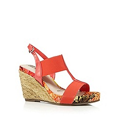 Good for the Sole - Dark peach elasticated wide fit high wedges