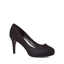 Good for the Sole - Black suedette wide fit high court shoes