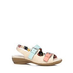 Good for the Sole - Natural buckle wide fit sandals