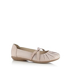 Good for the Sole - Lilac leather plaited strap wide fit shoes