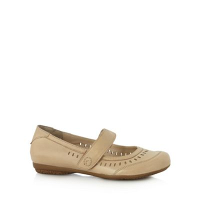 Good for the Sole Beige cutout wider fit flat shoes - . -