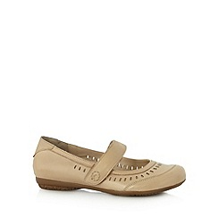 Good for the Sole - Beige cutout wide fit flat shoes
