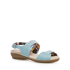 Good for the Sole - Light blue cushioned wide fit low sandals