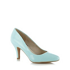The Collection - Pale blue patent court shoes