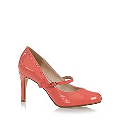The Collection - Dark peach punched high court shoes