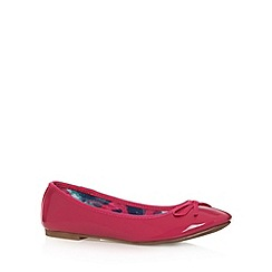 The Collection - Bright pink textured bow pumps