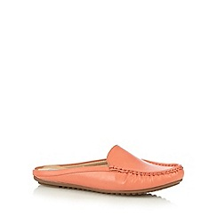 The Collection - Peach slip on moccasins