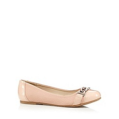 The Collection - Light pink chain trim snakeskin pumps