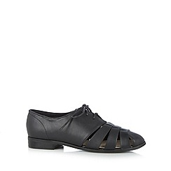 The Collection - Black cutout striped shoes