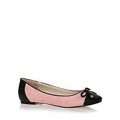 The Collection - Light pink quilted slip on shoes