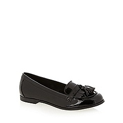 The Collection - Black patent tassel detail loafers