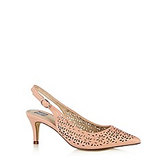 The Collection - Light pink cutout slingback mid court shoes
