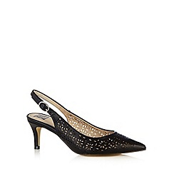 The Collection - Black cutout slingback mid court shoes