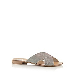 The Collection - Silver glitter textured sandals
