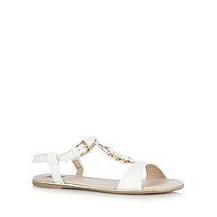 The Collection - White snake print sandals