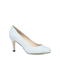 The Collection - Pale blue suedette mid court shoes