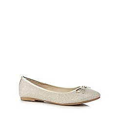 The Collection - Gold slip-on shoes