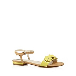 The Collection - Yellow flower strap sandals