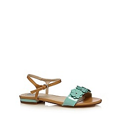 The Collection - Aqua flower strap sandals