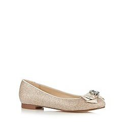 Debut - Light gold metallic bow shoes