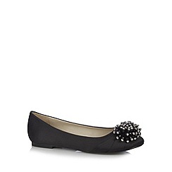 Debut - Black jewel pompom pumps