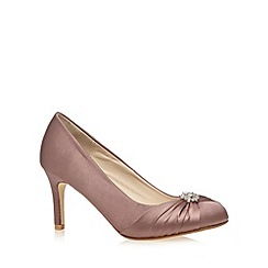 Debut - Purple stone satin stiletto high court shoes