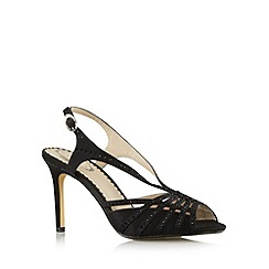 Debut - Black embellished high slingback sandals