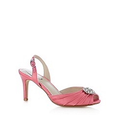 Debut - Pink satin flower diamant  high sandals