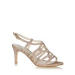 Debut - Gold glitter high sandals