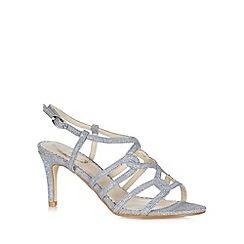 Debut - Silver glitter high sandals