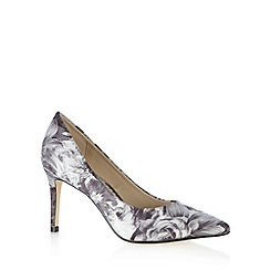 Debut - Grey rose print court shoes
