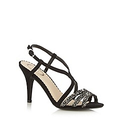Debut - Black embellished mid stiletto heel sandals