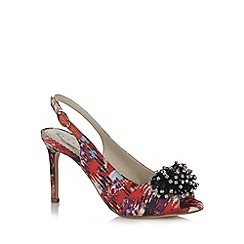 Debut - Red jewel pompom court shoes