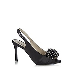 Debut - Black jewel pompom court shoes