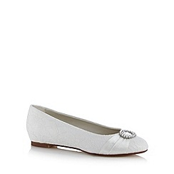 Debut - Ivory lace diamante circle trim wide fitting shoes