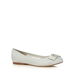 Debut - Silver diamante flat shoes