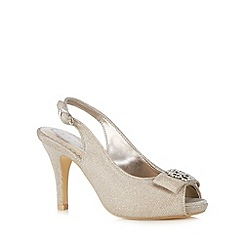 Debut - Gold embellished stone wide fit high court shoes