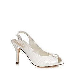 Debut - Ivory jewel high wide fit court shoes