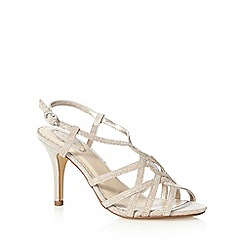 Debut - Light gold metallic strap wide fit high sandals