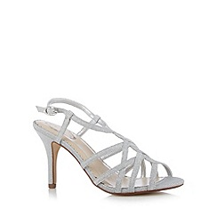Debut - Silver metallic strap wide fit high sandals