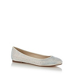 Debut - Ivory diamante satin shoes